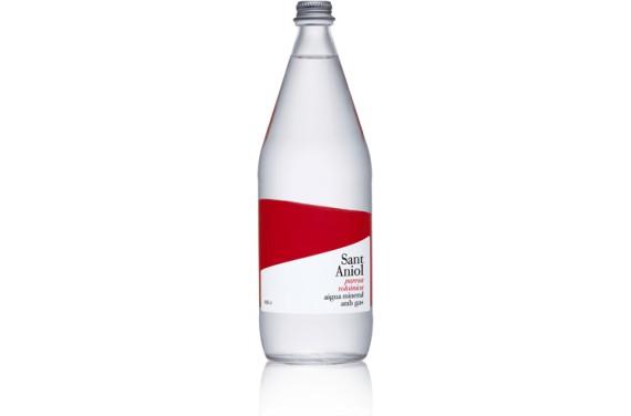 Aigua Mineral Natural amb gas Vidre 1L