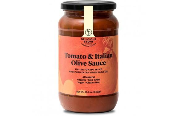 Salsa de tomàquet Italiana amb olives i ecològica