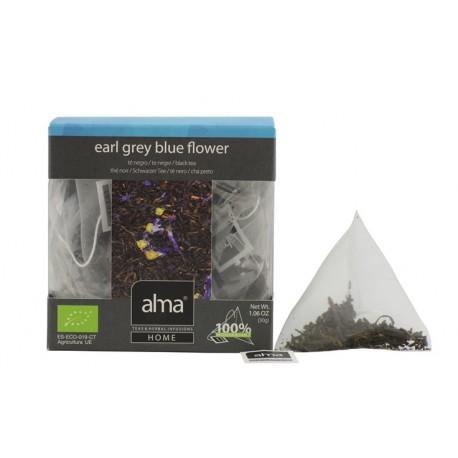EARL GREY BLUE FLOWER BLACK TEA BIO 15 PYRAMIDS TEA BAGS